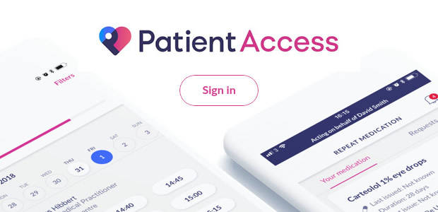 Patient Access - click here to Sign In